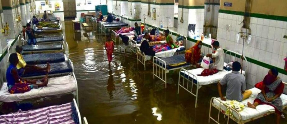 Video: Hyderabad's Osmania General Hospital inundated after heavy rains