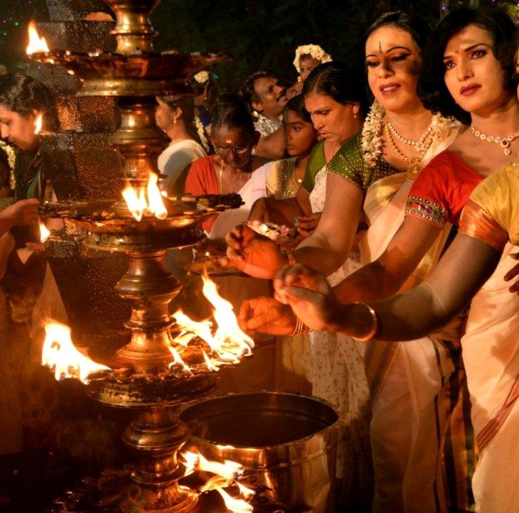 Chamayavilakku Photos: Worshipping As Women: Check Out This Unique Kerala