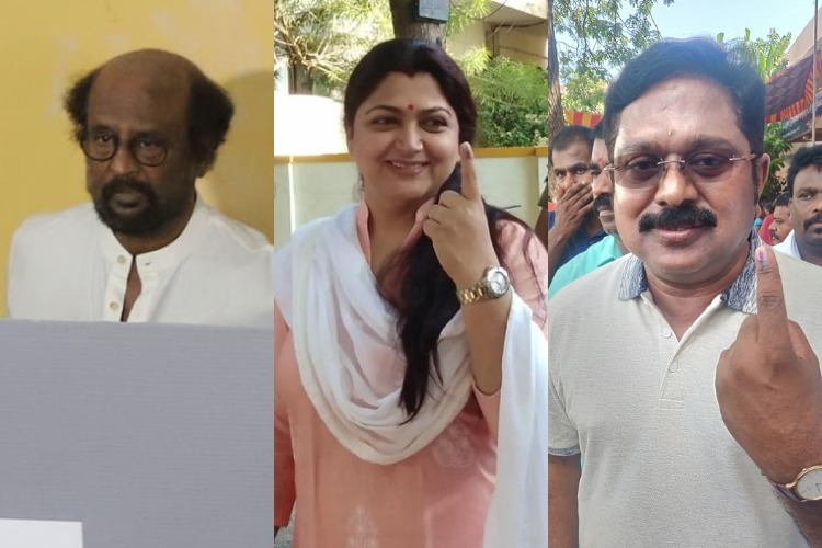 In pictures: Politicians and celebrities cast their votes in Tamil Nadu